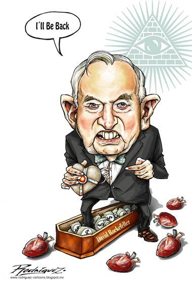 Antonio Rodríguez  (2017-03-21)  David Rockefeller, the billionaire banker and one of the most evil men, has died, at least for this moment, at age 101, and after six heart transplants...