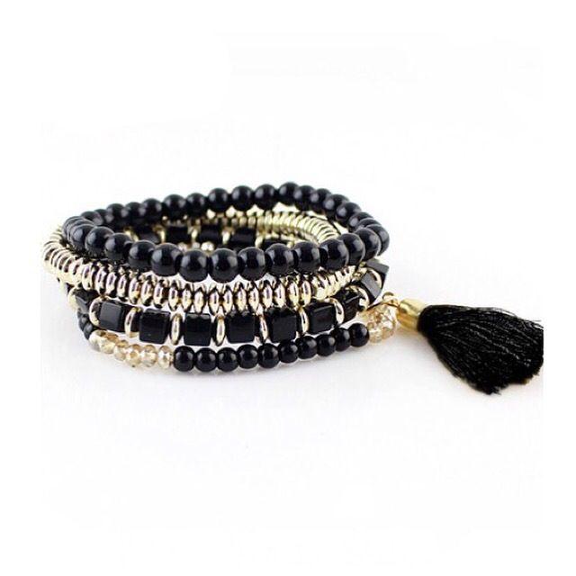 Bardot Bracelet  Style: Jewelry- BraceletColour: Black - GoldSKU: SHE001JWL*Free Shipping on this item to AUS