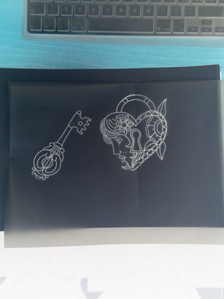 Tattoo sketch # traditional tattoo # neo traditional tattoo #padlock tattoo # heart tattoo # tattoo idea
