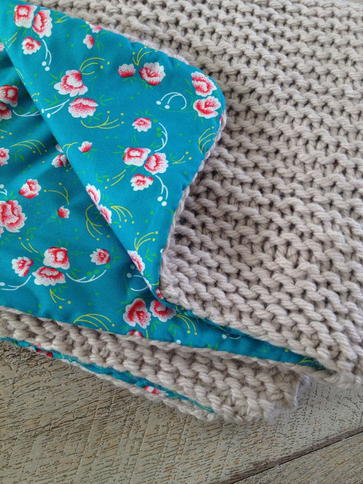 Couverture b b tricot avec laine rapido phildar et doubl avec tissus peti - Plaid bebe petit pan ...