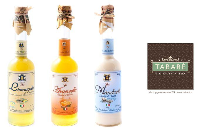 limoncello, mandorlè, arancello liqueurs, #liqueurs #drink #sicily #sicilian #typical #italy #italian #Almond #lemon #orange