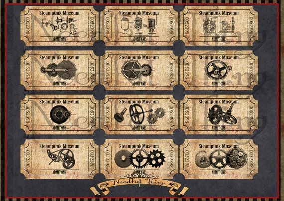 Vintage old paper tag nautical ship octopus marine ticket digital - printable ticket paper