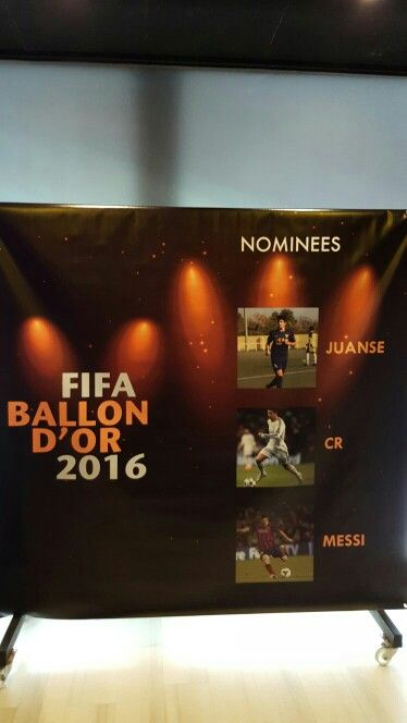 Photocall inspirado en el Balón de Oro 2016