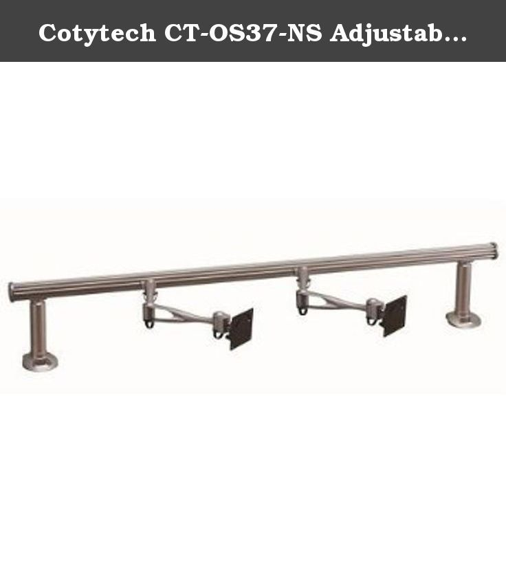 Cotytech CT-OS37-NS Adjustable Ergonomic Mobile Dual TV Cart for 32-Inch to 46-Inch TVs with No Shelf. Cotytech Adjustable Ergonomic Mobile Dual TV Cart for 32-Inch to 46-Inch is a perfect solution to all your digital display and presentation needs. The rolling TV cart is Ideal for safely and securely moving two flat panel displays up to 46-Inch, with universal or VESA mounting pattern up to 600 x 400. The moveable TV stand has 69.29-Inch (176cm) maximum height and it's fully mobile with…