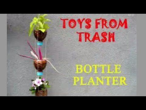 Cómo hacer un jardín vertical con botellas de plástico