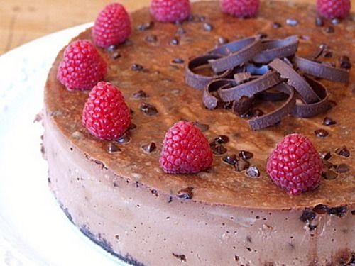 Chocolate Chocolate Chip Cheesecake