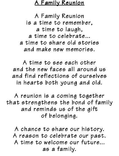 family reunion quotes | MACHADO FAMILY REUNION