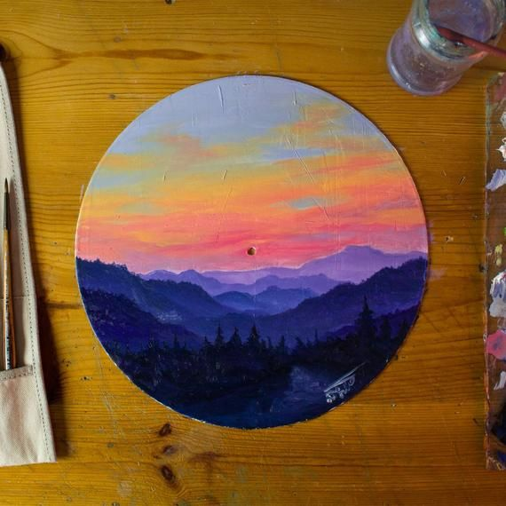 This Listing Is For Original Painted Vinyl Record With Oil By Me Size 30cm Vinyl Record Art Vinyl Art Paint Circle Painting