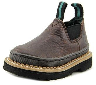 Georgia Boot Gr74 Toddler Round Toe Leather Brown Work Boot.