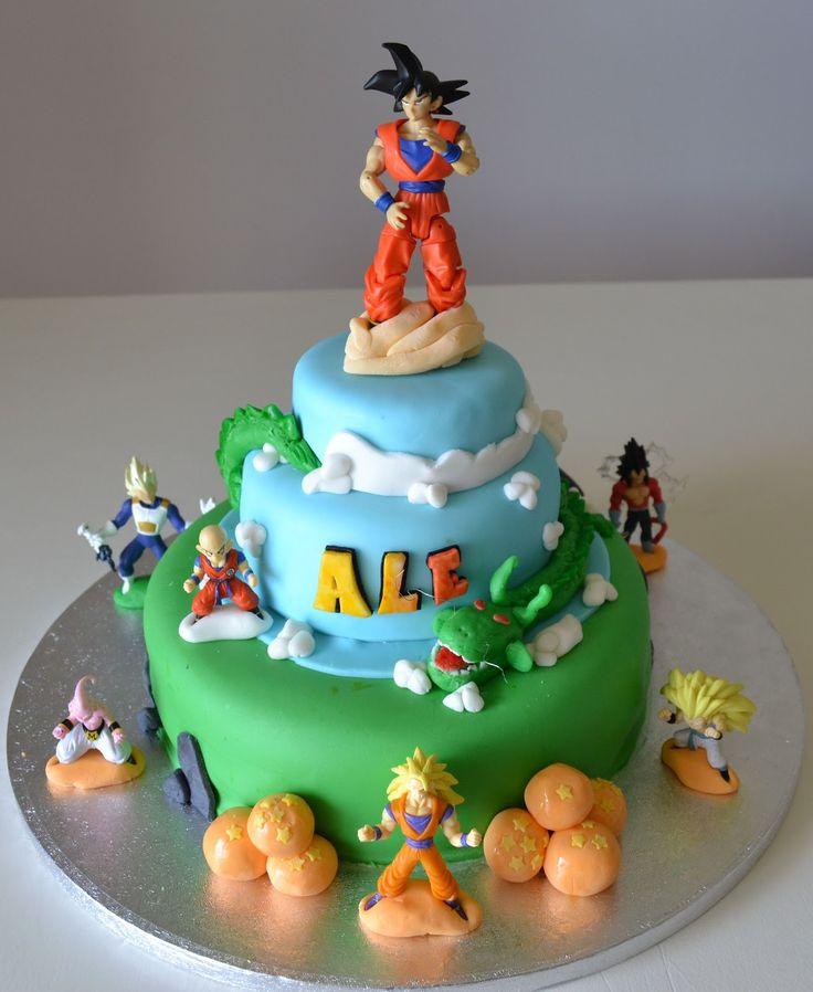 Buccias Cakes Torta Dragon Ball II cakepins.com Goku ...
