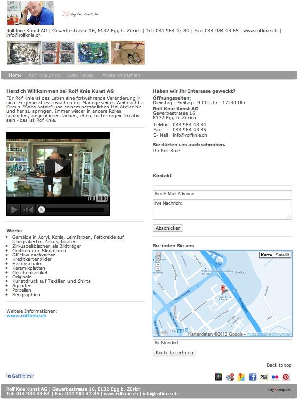 Rolf Knie, Kunst, Circus, Salto Natale, Egg b. Zürich, Vernissagen, Künstler, Galerie, Kunsthandel, Egg, Zürich