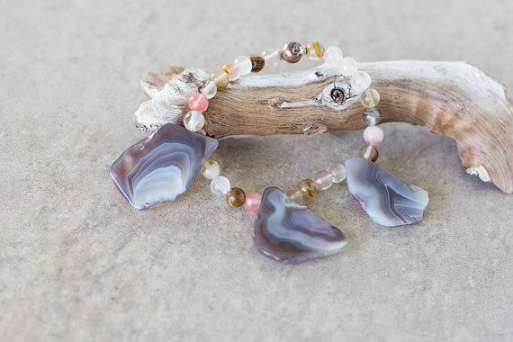 Stunning Agate Freeform Slices with by JeniandPatsBeadHive on Etsy