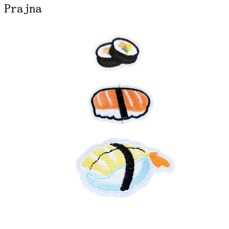Cheap patch iron on, Buy Quality iron on patches directly from China iron on Suppliers: Prajna  Japanese Sushi Patches  Iron On Patches Cheap Embroidery Patch Applique Parches Ropa For Clothing Stripes Stickers DIY