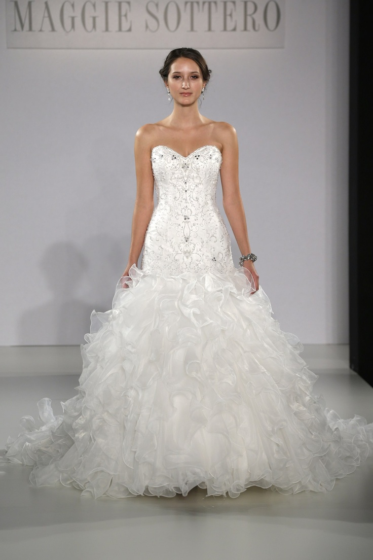 Fishtail Wedding Dress With Ruffles : Best images about wedding dress inspiration on