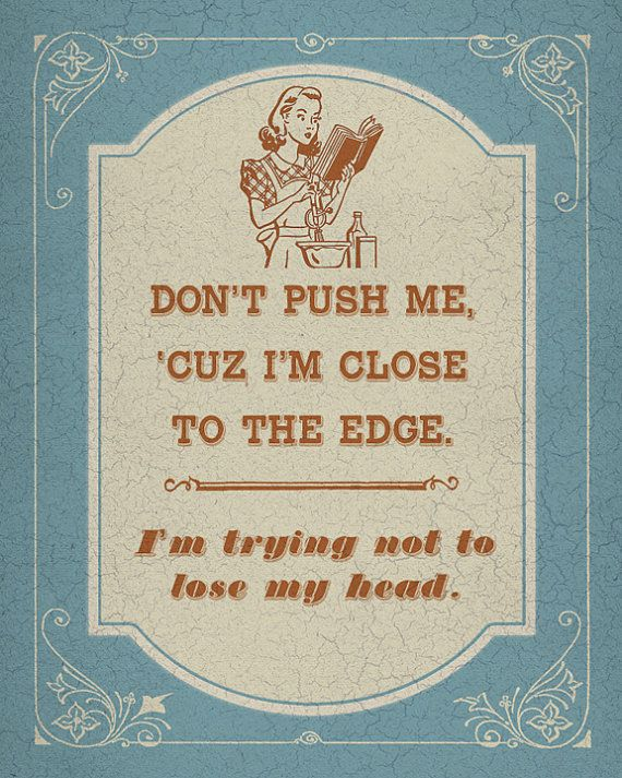 Old School Rap Kitsch - Don't Push Me Cuz I'm Close to the Edge