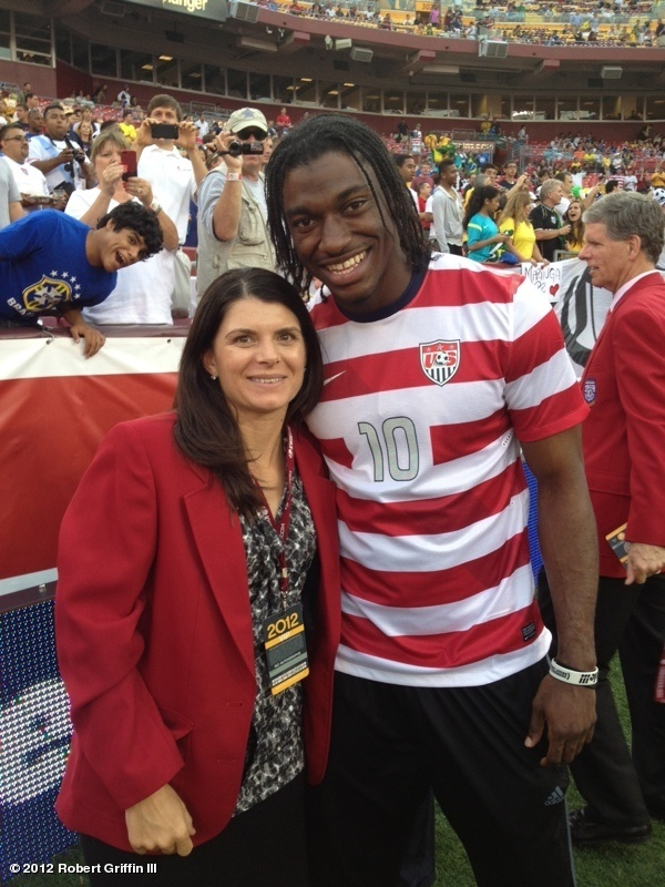 Mia Hamm and Robert Griffin III (June 3, 2012)
