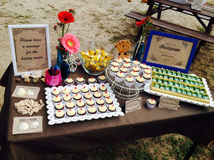Wedding Reception with mini candy bar   Party deco   Pinterest ...