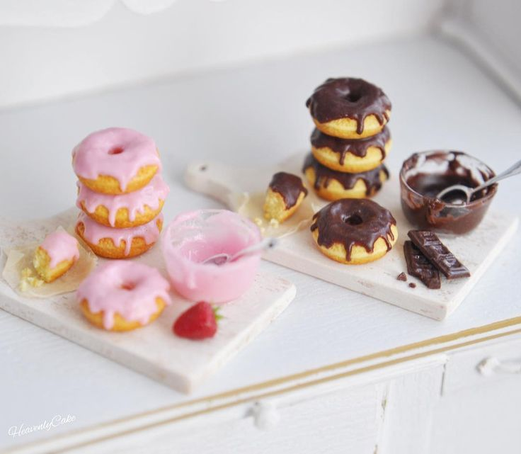 """3,339 Likes, 18 Comments - HeavenlyCake miniatures (@heavenly_cake) on Instagram: """"♥️ Finished prototypes of donuts making scene. 試作これで完成しました"""""""
