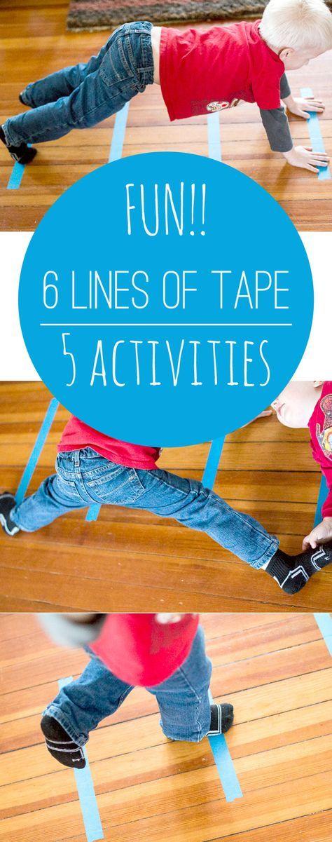 "5 activités avec 6 lignes de ruban adhésif""!"