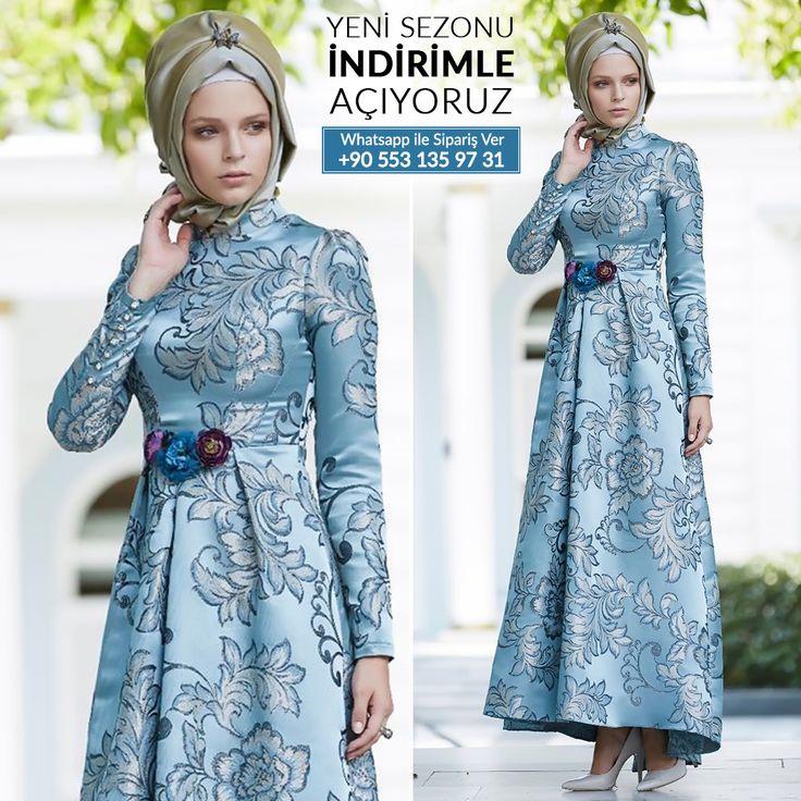 Tesettürlü Abiye Elbise - Beli Çiçek Detaylı Buz Mavi Abiye Elbise #tesettur #tesetturabiye #tesetturgiyim #tesetturelbise #tesetturabiyeelbise #kapalıgiyim #kapalıabiyemodelleri #şıktesetturabiyeelbise #kışlıkgiyim #tunik #tesetturtunik