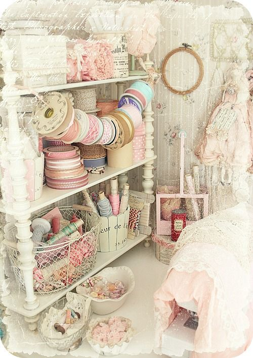Victorian and Shabby Chic craft room.