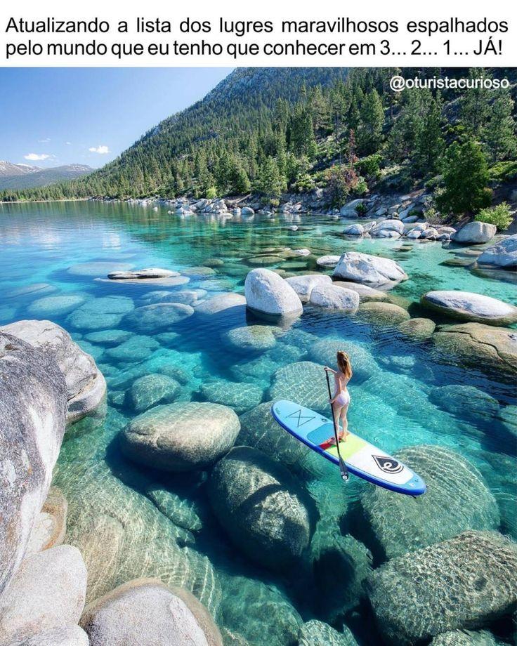 Este 233 O Lake Tahoe O Maior Lago Alpino Da Am 233 Rica Do