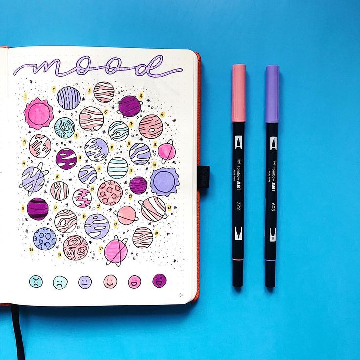 bullet journal galaxy theme page ideas — sweet planit in