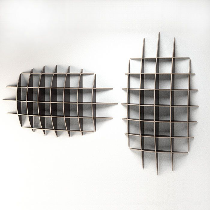 Interior, Creative Design for CD or DVD Storage: Shelves For CD Storage With Plain Big Boxes
