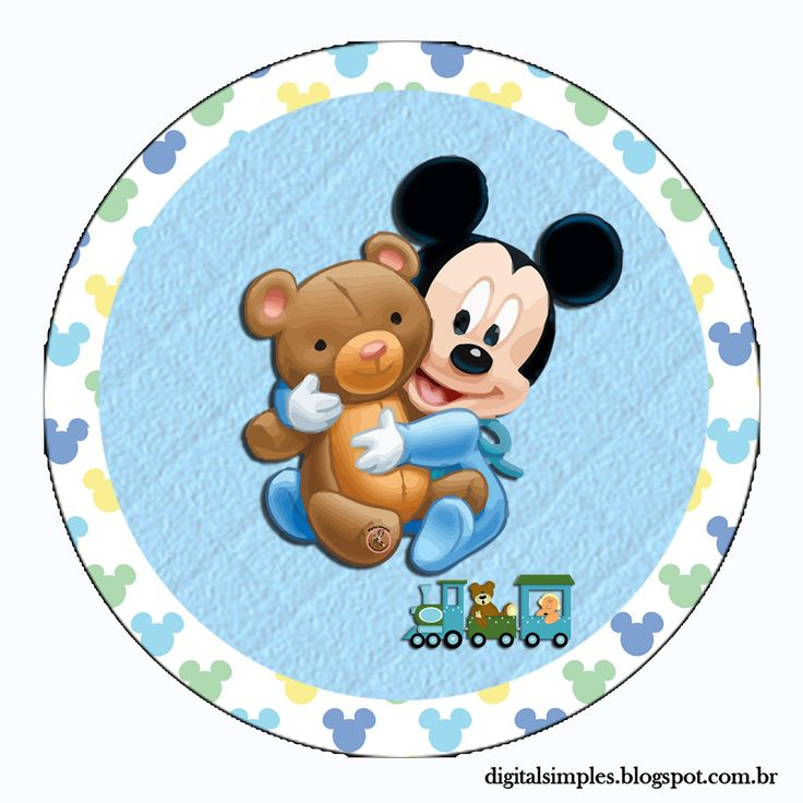 "Personalized ""Mickey Mouse Baby Disney"" Kit for Print - Simple Digital Invitations"