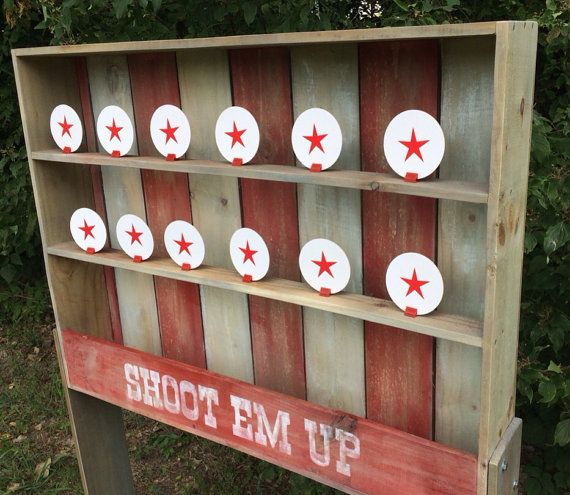 Old west vintage style Carnival Shooting Gallery by NorTexEvents