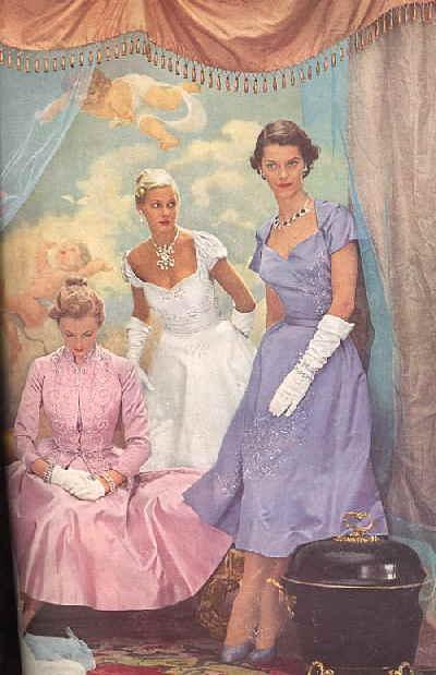 1951 fashion: Three Dresses, Vintage Fashion, 1950 S Fashion, 1951 When, 1950S Boards, 1950S Fashion, 1951 Fashion, Vintage Clothing