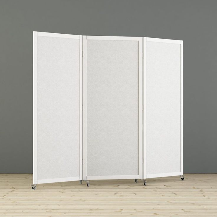 Viking is a mobile foldable floor screen with wooden frame that fits for a variety of uses, such as temporary shielding, notice board, whiteboard or sound absorber. The rubber castors make it very easy to move and the foldable screen takes up very little space when not in use. Scandinavian design. Made in Sweden. Design - Team Glimakra