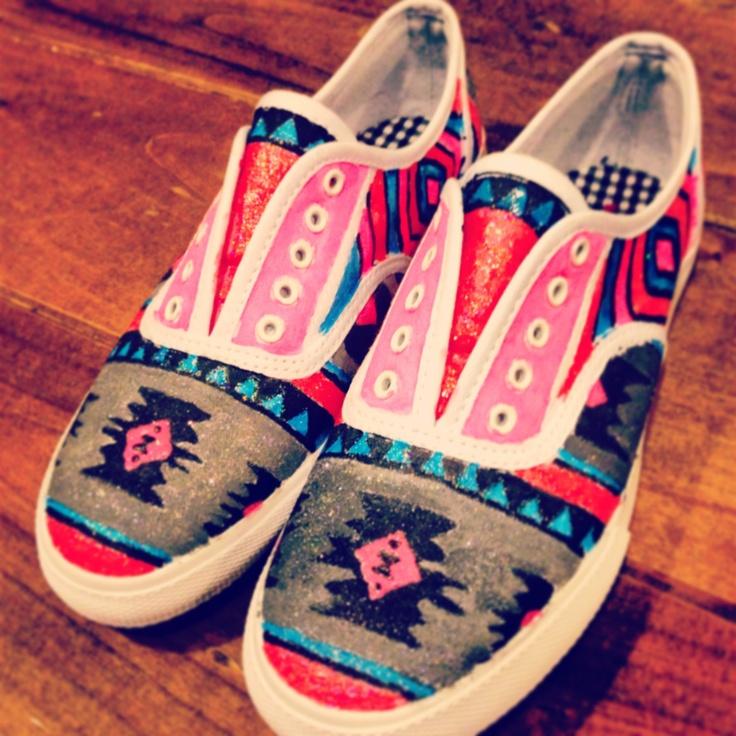 Custom Aztec Shoes