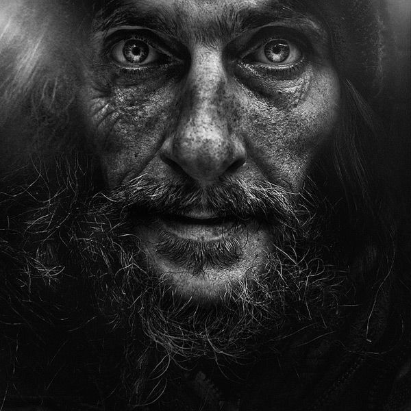 ...do something like this. I've talked about it forever. This is One in a series of Haunting Portraits of the Homeless by Lee Jeffries