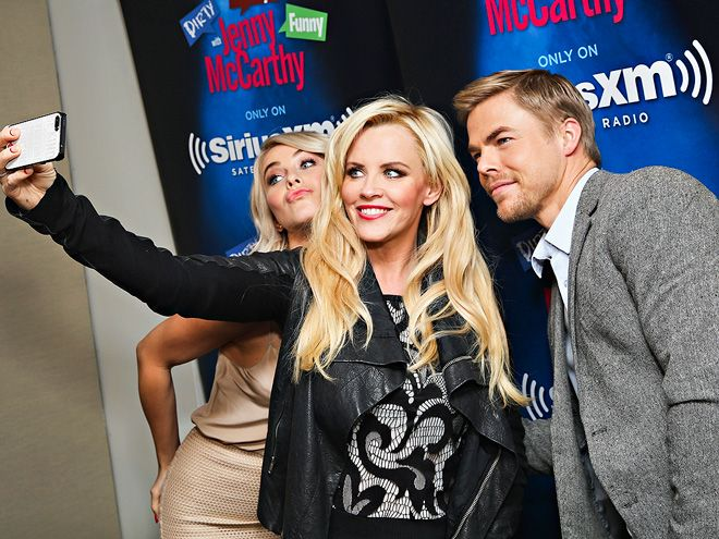 Star Tracks: Wednesday, March 4, 2015 | IN A SNAP | Jenny McCarthy joins photogenic forces with Julianne and Derek Hough during a Monday visit to her show, Dirty, Sexy, Funny, on Monday in N.Y.C.