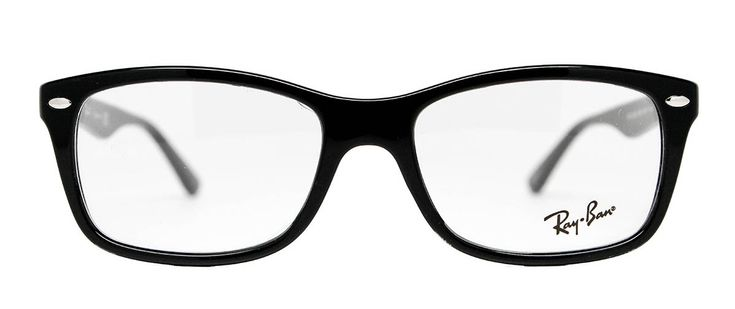 Ray Ban RX5228 Women's Shiny Black 53mm for $180.00. Find more great deals on prescription Ray-Ban frames at LensDirect!     #glasses