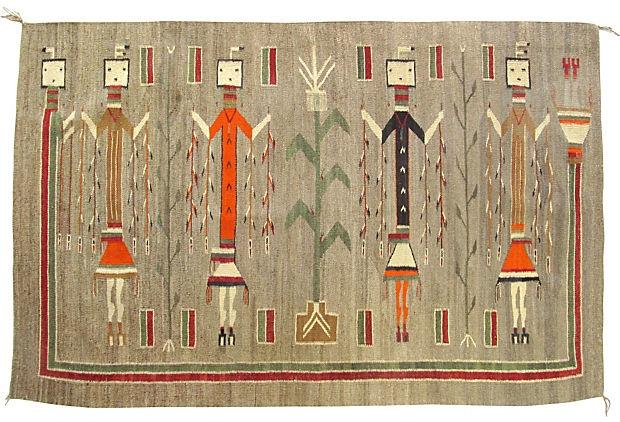 "Museum Quality Navajo Rug Yei Pictorial, 3'10 x 5'11"" $12,999 on One Kings Lane"