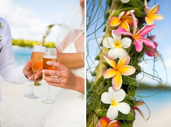 Colorful Organic Wedding Drinks Decor And Details One Foot Island Aitutaki