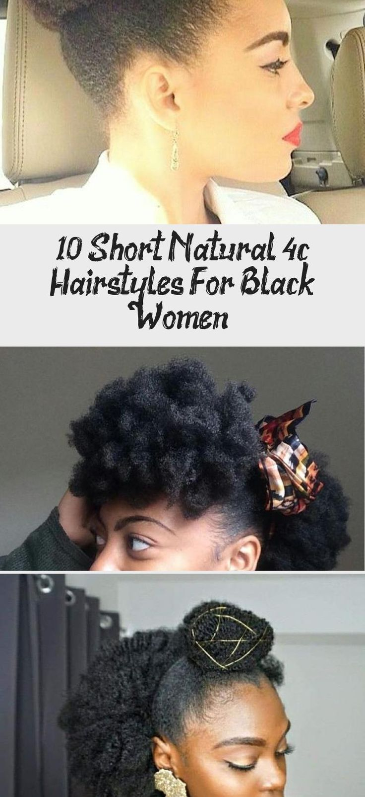 10 Short Natural 4c Hairstyles For Black Women in 2020 ...