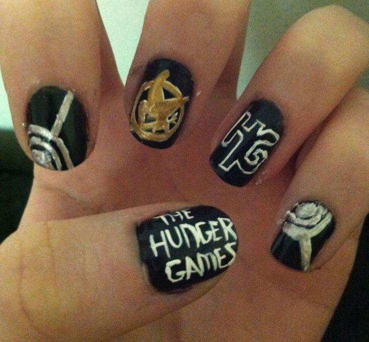 Nail Art Game: Hunger Games Nail Art!