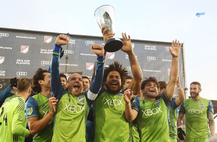 "The Seattle Sounders celebrate, but their work isn't done yet. There's still ""one more to go"" in the MLS Cup Final"