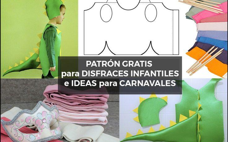 Patrón gratis para disfraces infantiles e ideas para carnavales