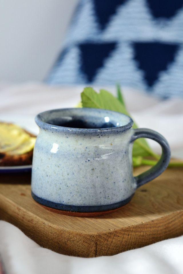 Short coffee cup: ocean blue