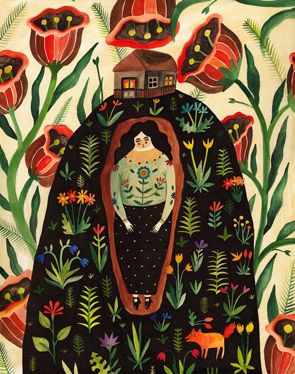 """Series of paintings from Romanian artist, Aitch. From a show entitled """"Coffins"""" at La Petite Mort Gallery, Ottawa"""