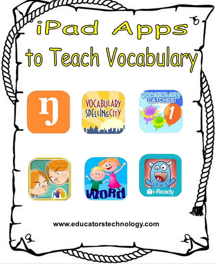 6 Good iPad Apps for Teaching Vocabulary to Young Learners ~ Educational Technology and Mobile Learning
