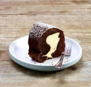 Das Rezept für Schokokuchen mit Cheesecakefüllung und weitere kostenlose Rezepte auf LECKER.de