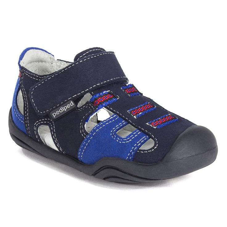 pediped Grip 'n' Go Brice Navy | pediped footwear | comfortable shoes for  kids