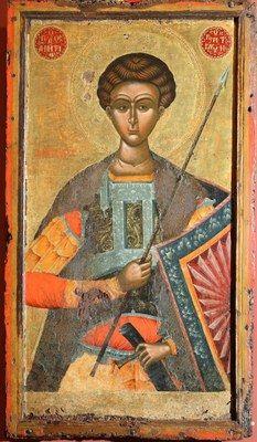 Korça,Museo Nazionale dell'Arte Medievale, Icona,San Dimitri,XVI secolo