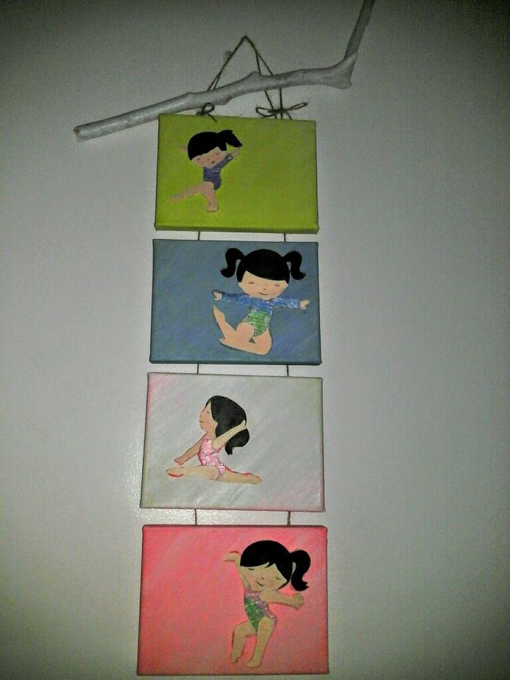 Elemento decorativo para o quarto de uma criança que pratica ginástica artística... (Hand made)