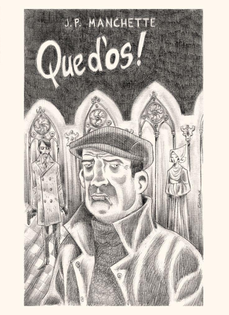 """Gabos Vs Manchette Idea per copertina per """"Que d'os!"""" romanzo di Manchette edito per la serie noir della Gallimard. Grafite su carta Schoeller. 2015."""